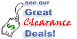See our great clearance deals!